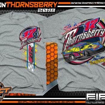 Shannon Thornsberry Portsmouth Raceway Park Lucas Oil Dirt Late Model Shirts Kentucky Sports Grey