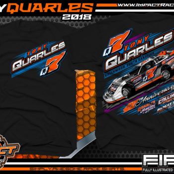 Tony Quarles South Carolina Rocket XR1 Lucas Oil Super Dirt Late Model Shirts Black