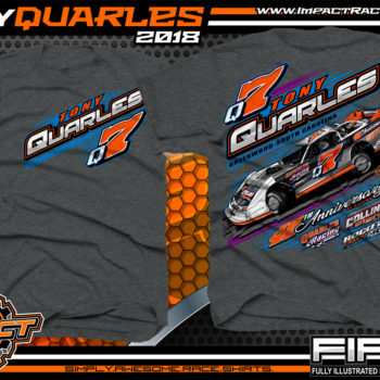 Tony Quarles South Carolina Rocket XR1 Lucas Oil Super Dirt Late Model Shirts Dark Heather