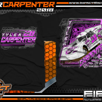 Tyler Carpenter Kryptonite Race Cars West Virginia Dirt Late Model Shirts Black
