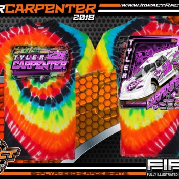 Tyler Carpenter Kryptonite Race Cars West Virginia Dirt Late Model Shirts Illusion Tie Dye
