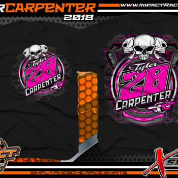 Tyler Carpenter Kryptonite Race Cars West Virginia Ohio Valley Dirt Late Model Shirts Black