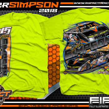 Tyler Simpson Asphalt Late Model Racing T-Shirts Florida Safety Yellow