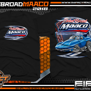 West Broad Maaco Virginia Custom Automotive Printed T-Shirts Black