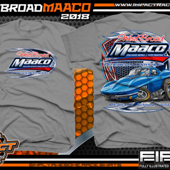 West Broad Maaco Virginia Custom Automotive Printed T-Shirts Medium Grey