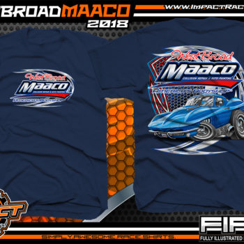 West Broad Maaco Virginia Custom Automotive Printed T-Shirts Navy