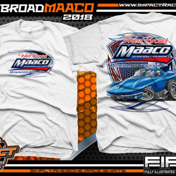 West Broad Maaco Virginia Custom Automotive Printed T-Shirts White