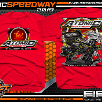 Atomic-Speedway-Dirt-Track-Racing-Track-Souvenir-Shirt-Red