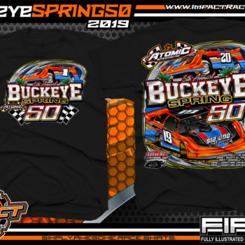 Atomic-Speedway-Lucas-Oil-Dirt-Late-Model-Series-Buckeye-Spring-50-Event-Racing-Shirt-Black