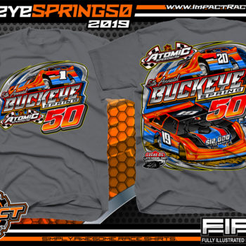 Atomic-Speedway-Lucas-Oil-Dirt-Late-Model-Series-Buckeye-Spring-50-Event-Racing-Shirt-Charcoal