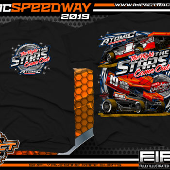 Atomic-Stars-All-Star-Circuit-of-Champion-Sprint-Cars-Racing-TShirts-Event-Shirts-Dirt-Racing-Tees-Black