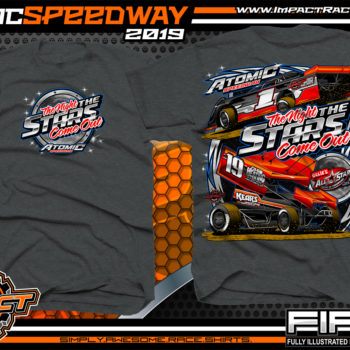 Atomic-Stars-All-Star-Circuit-of-Champion-Sprint-Cars-Racing-TShirts-Event-Shirts-Dirt-Racing-Tees-Dark-Heather