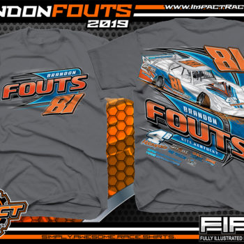 Brandon-Fouts-Racing-TShirts-Lucas-Oil-Dirt-Late-Model-Series-Shirts-Kentucky-Race-Tees-4B-Motorspots-Charcoal