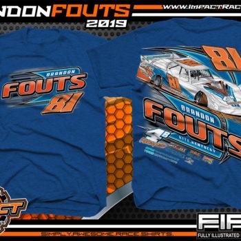 Brandon-Fouts-Racing-TShirts-Lucas-Oil-Dirt-Late-Model-Series-Shirts-Kentucky-Race-Tees-4B-Motorspots-Royal