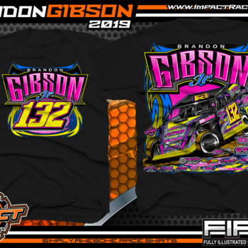 Brandon-Gibson-Kentucky-Dirt-Modified-Racing-Shirts-USMTS-Black