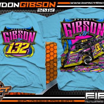 Brandon-Gibson-Kentucky-Dirt-Modified-Racing-Shirts-USMTS-Sky