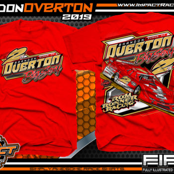 Brandon-Overton-Rum-Runner-Racing-T-Shirts-Joey-Coulter-Hillbilly-100-Winner-World-of-Outlaws-Dirt-Late-Model-Series-Lucas-Oil-Dirt-Late-Model-Series-Shirts-Red