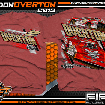 Brandon-Overton-Super-Dirt-Late-Model-Lucas-Oil-Racing-Series-Dirt-Track-T-Shirts-Heather-Scarlet
