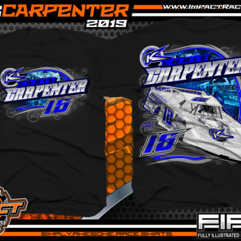 Chris-Carpenter-Dirt-Late-Model-Racing-TShirts-Lucas-Oil-Dirt-Late-Model-Series-Racing-Shirts-West-Virginia-Black