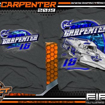 Chris-Carpenter-Dirt-Late-Model-Racing-TShirts-Lucas-Oil-Dirt-Late-Model-Series-Racing-Shirts-West-Virginia-Charcoal