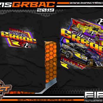 Chris-Grbac-Dirt-Racing-T-Shirt-Modified-Super-Dirtcar-Big-Block-Modified-New-Jersey-Black