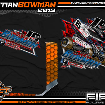 Christian-Bowman-World-of-Outlaws-Sprint-Car-T-Shirts-Knoxville-Raceway-Knoxville-Nationals-Iowa-Black