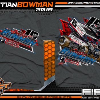Christian-Bowman-World-of-Outlaws-Sprint-Car-T-Shirts-Knoxville-Raceway-Knoxville-Nationals-Iowa-Dark-Heather