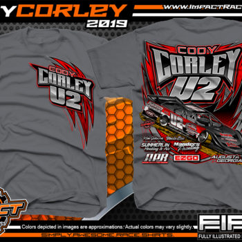 Cody-Corley-Lucas-Oil-Dirt-Late-Model-Series-Race-Shirts-Racing-Tees-Augusta-Georgia-Charcoal
