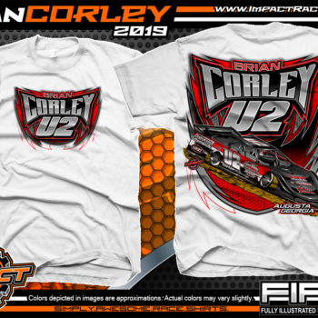 Cody-Corley-Lucas-Oil-Dirt-Late-Model-Series-Race-Shirts-Racing-Tees-Augusta-Georgia-White
