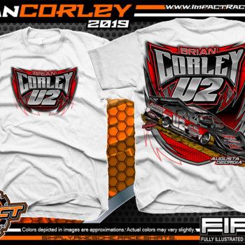 Cody-Corley-Lucas-Oil-Dirt-Late-Model-Series-Race-Shirts-Racing-Tees-Augusta-Georgia-White