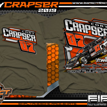 Cory-Crapser-USMTS-Modified-Racing-T-Shirts-Wisconsin-Army-Green