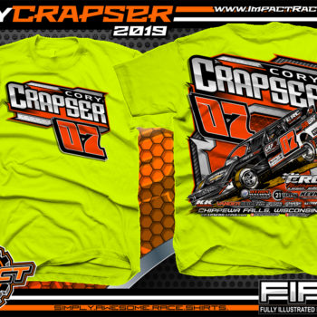 Cory-Crapser-USMTS-Modified-Racing-T-Shirts-Wisconsin-Safety-Yellow