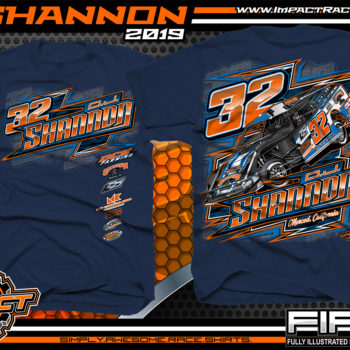 DJ-Shannon-USMTS-Modified-JImmy-Owens-LG2-California-Dirt-Racing-Souvenir-T-shirt-navy