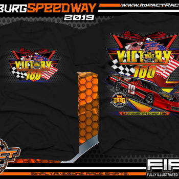 Galesburg-Victory-100-Michigan-Event-T-Shirts-Late-Model-Asphalt-Racing-Shirts-Pavement-Race-Tees-Black