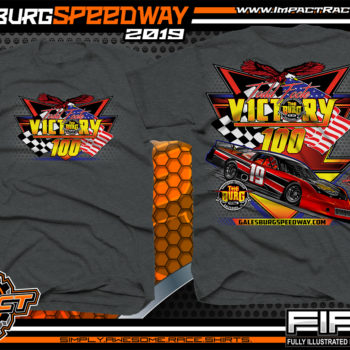 Galesburg-Victory-100-Michigan-Event-T-Shirts-Late-Model-Asphalt-Racing-Shirts-Pavement-Race-Tees-Dark-Heather