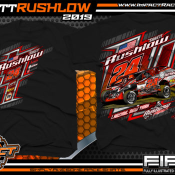Garett-Rushlow-Super-Dirt-Car-Big-Block-Modified-Race-T-Shirts-New-York-Black