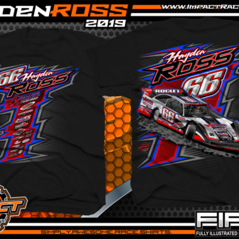 Hayden-Ross-Ross-Racing-Dirt-Late-Model-Rocket-Chassis-Lucas-Oil-Racing-T-shirts-Oklahoma-Black