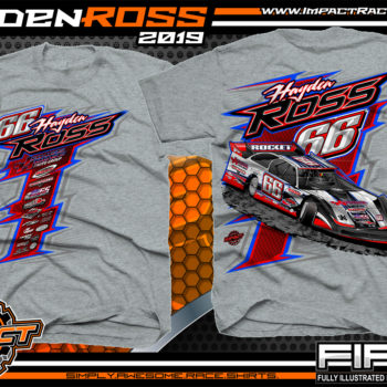 Hayden-Ross-Ross-Racing-Dirt-Late-Model-Rocket-Chassis-Lucas-Oil-Racing-T-shirts-Oklahoma-Sport-Grey