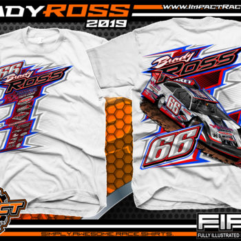 Hayden-Ross-Ross-Racing-Dirt-Late-Model-Rocket-Chassis-Lucas-Oil-Racing-T-shirts-Oklahoma-White