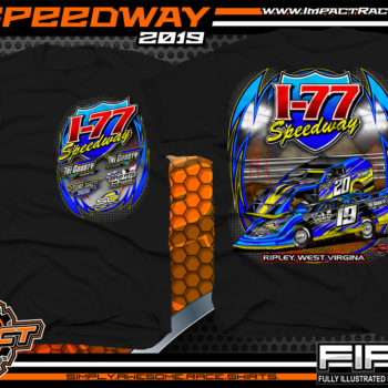 I-77-Speedway-Racing-TShirts-Ripley-West-Virginia-Racetrack-Shirts-Black