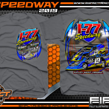 I-77-Speedway-Racing-TShirts-Ripley-West-Virginia-Racetrack-Shirts-Charcoal