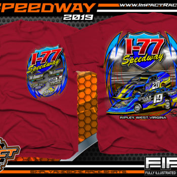 I-77-Speedway-Racing-TShirts-Ripley-West-Virginia-Racetrack-Shirts-Red