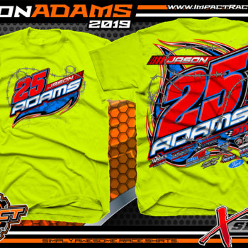 Jason-Adams-Modified-Race-Car-Shirts-Dirt-Racing-T-Shirts-Ohio-Safety-Yellow