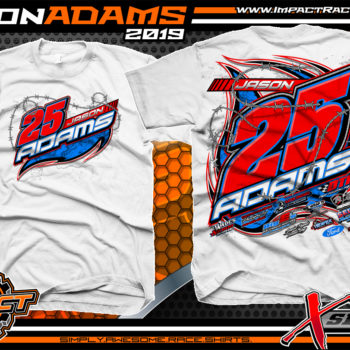 Jason-Adams-Modified-Race-Car-Shirts-Dirt-Racing-T-Shirts-Ohio-White