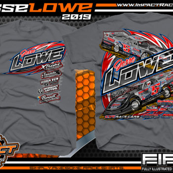 Jesse-Lowe-Lucas-Oil-Dirt-Late-Model-Series-Racing-TShirts-Tennessee-Racing-Tees-Charcoal