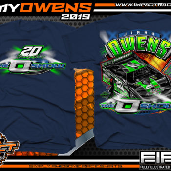 Jimmy-Owens-3-Time-Lucas-Oil-Late-Model-Series-Dirt-Late-Model-Champion-O-Show-Dirt-Track-Racing-Shirts-Navy-Newport-Tennessee