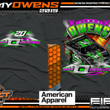 Jimmy-Owens-3-Time-Lucas-Oil-Late-Model-Series-Dirt-Late-Model-Champion-O-Show-Dirt-Track-Racing-Shirts-Navy-Newport-Tennessee-American-Apparel-Triblend-Ladies-Shirt