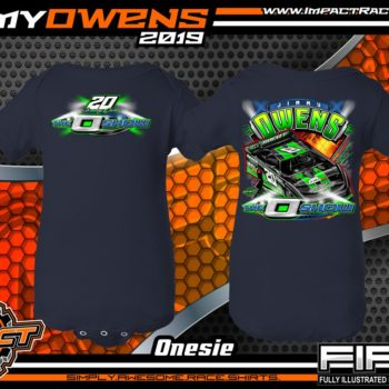 Jimmy-Owens-3-Time-Lucas-Oil-Late-Model-Series-Dirt-Late-Model-Champion-O-Show-Dirt-Track-Racing-Shirts-Navy-Newport-Tennessee-Rabbit-Skins-Onesie