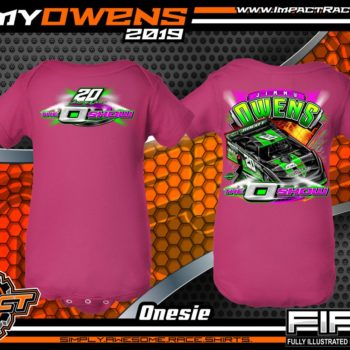 Jimmy-Owens-3-Time-Lucas-Oil-Late-Model-Series-Dirt-Late-Model-Champion-O-Show-Dirt-Track-Racing-Shirts-Navy-Newport-Tennessee-Rabbit-Skins-Onesie-Pink