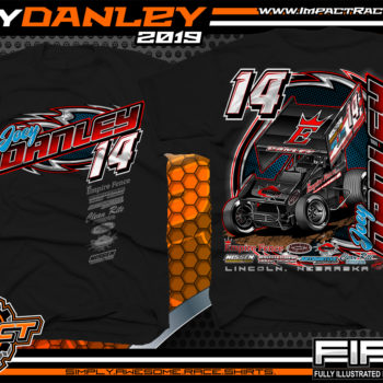 Joey-Danley-Sprint-Car-Racing-TShirts-World-of-Outlaws-Sprint-Car-Shirts-Nebraska-Black
